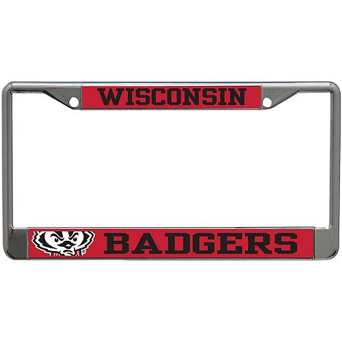Wisconsin Badgers Small Over Large Mega License Plate Frame