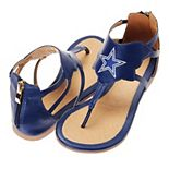 Women's Cuce Navy Dallas Cowboys Gladiator Sandals