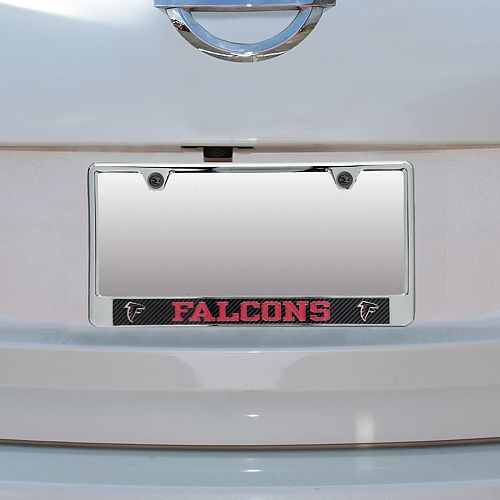 Atlanta Falcons Carbon Bottom Only Metal Acrylic Cut License Plate Frame