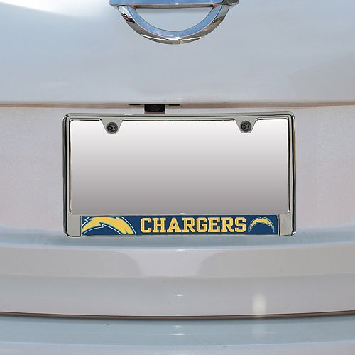 Los Angeles Chargers Bottom Only Mega License Plate Frame