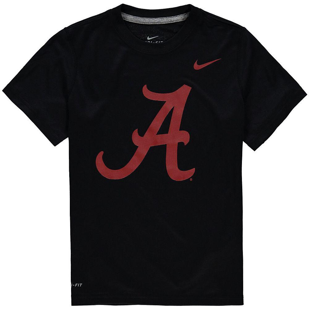Youth Nike Black Alabama Crimson Tide Logo Legend Dri-FIT T-Shirt