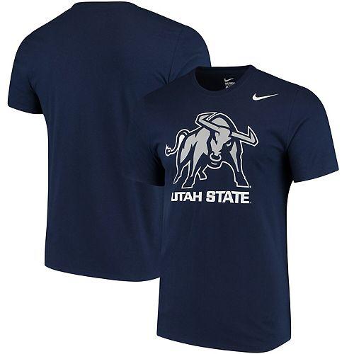 Men's Nike Navy Utah State Aggies Big Logo T-Shirt