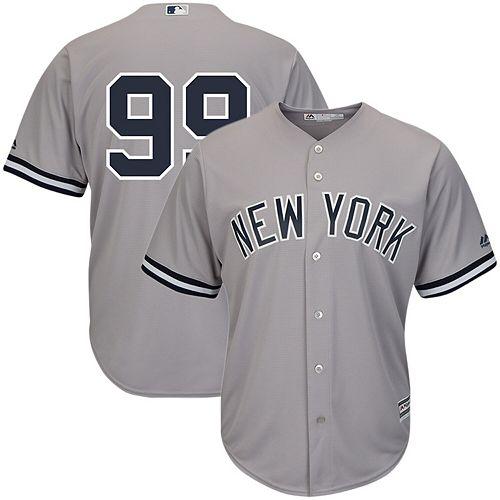 Men's Majestic Aaron Judge Gray New York Yankees Cool Base Player Replica Jersey