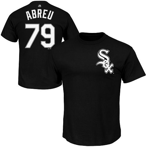 Men's Majestic Jose Abreu Black Chicago White Sox Big & Tall Official Player T-Shirt