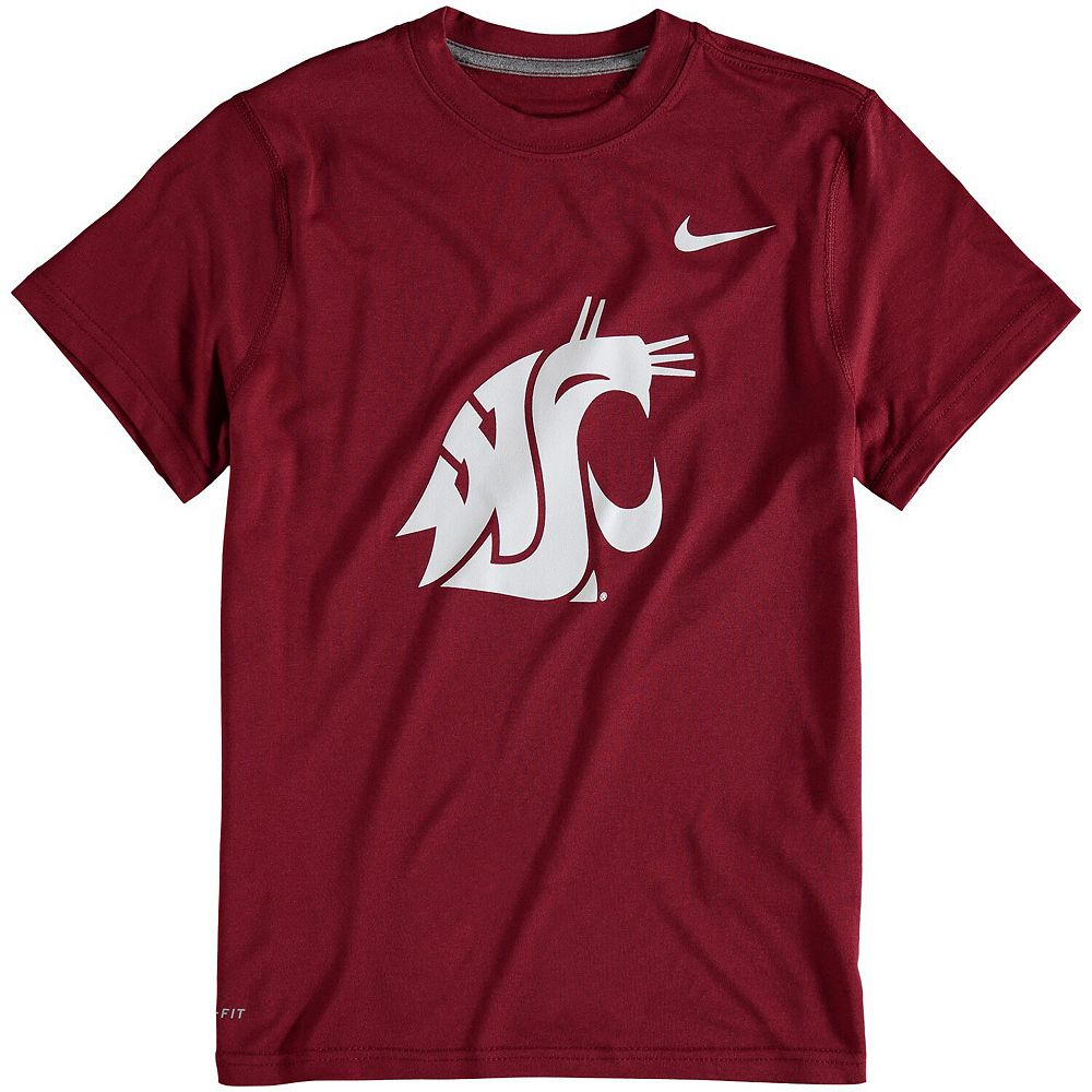 Youth Nike Crimson Washington State Cougars Logo Legend Dri-FIT T-Shirt