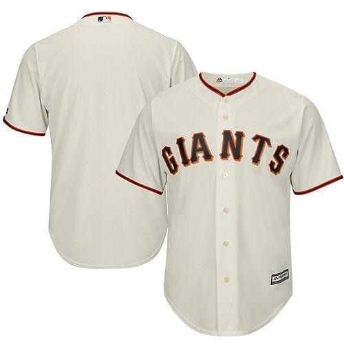Men's Majestic Tan San Francisco Giants Official Cool Base Jersey