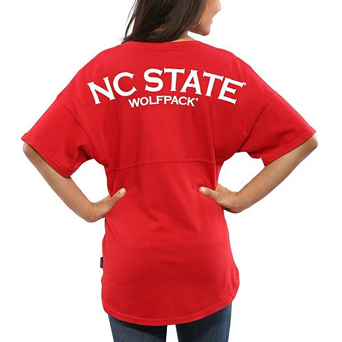 Women's Red NC State Wolfpack Spirit Jersey Oversized T-Shirt