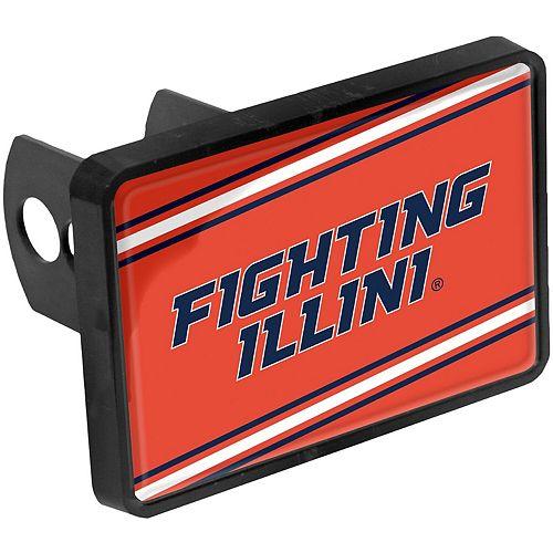"Illinois Fighting Illini Mega 1.25"" x 2"" Universal Plastic Hitch Cover"