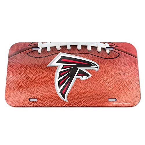 WinCraft Atlanta Falcons Football Crystal Mirror License Plate
