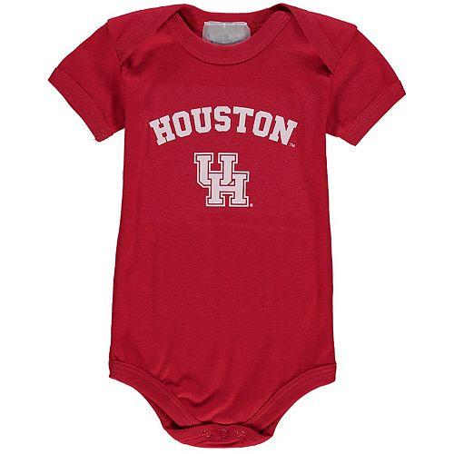 Infant Red Houston Cougars Arch & Logo Bodysuit