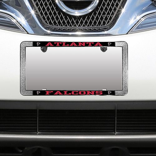 Atlanta Falcons Metal Thin Rim Acrylic Laser-Cut License Plate Frame