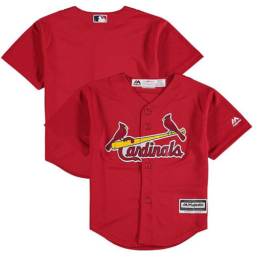 Preschool Majestic Scarlet St. Louis Cardinals Fashion Official Cool Base Team Jersey