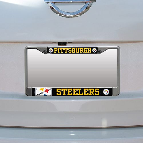 Pittsburgh Steelers Small Over Large Mega License Plate Frame