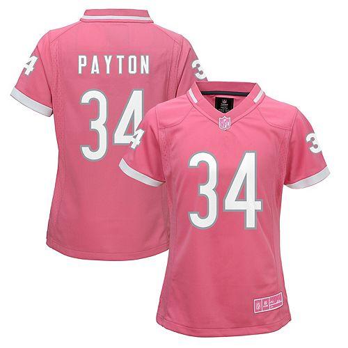 Girls Youth Walter Payton Pink Chicago Bears Fashion Bubble Gum Jersey