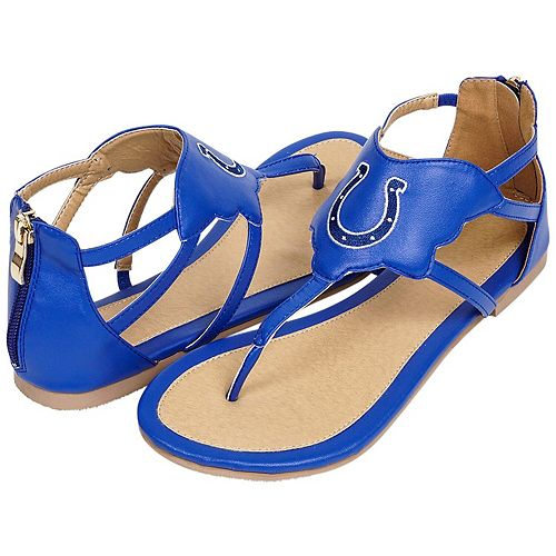 Women's Cuce Royal Indianapolis Colts Gladiator Sandals