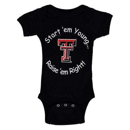 Infant Black Texas Tech Red Raiders Start Em Young Bodysuit