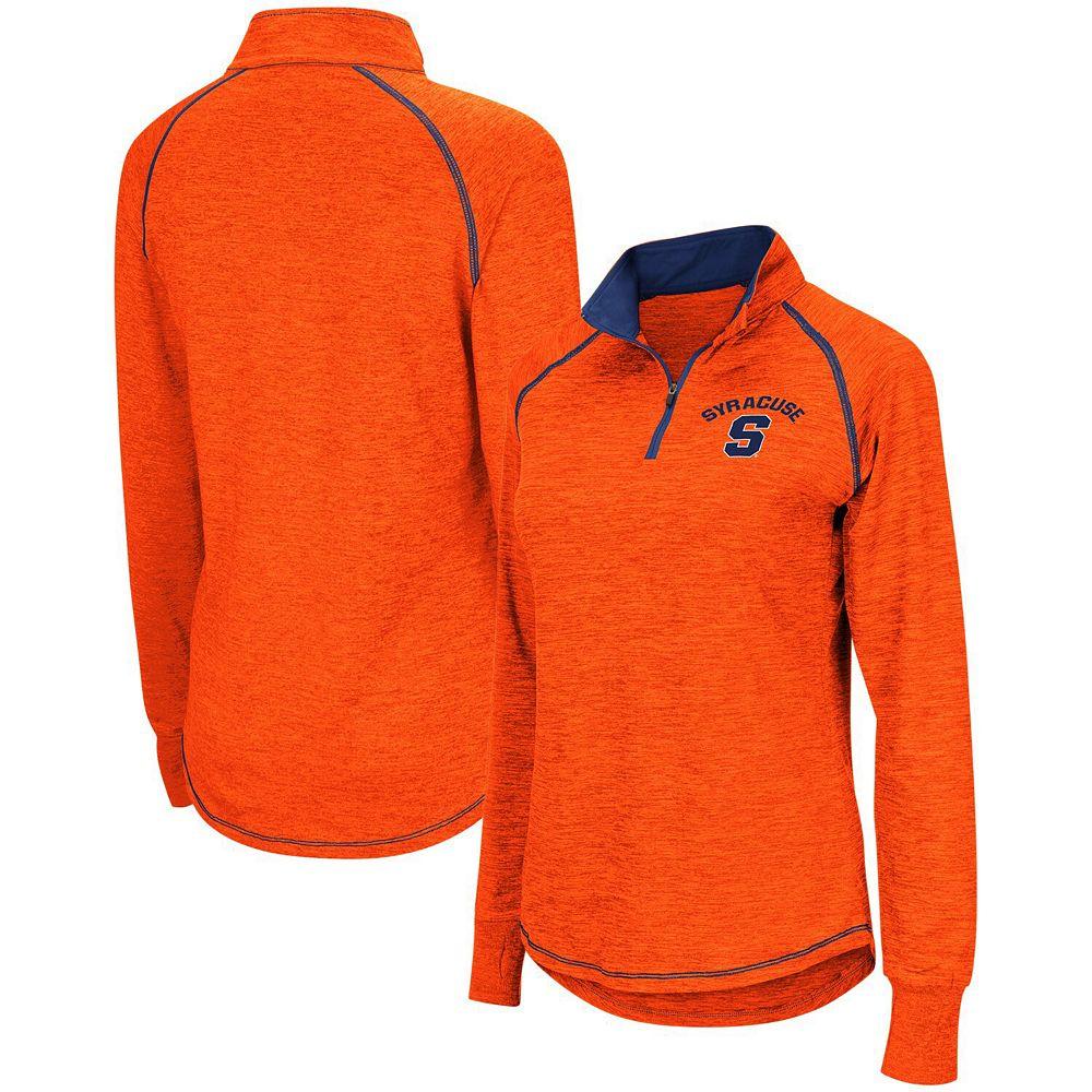 Women's Colosseum Orange Syracuse Orange Bikram Quarter-Zip Pullover Jacket