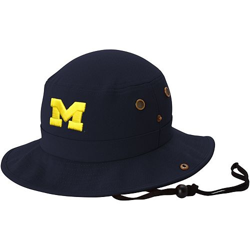 Michigan Wolverines Top of the World Angler Bucket Hat - Navy Blue