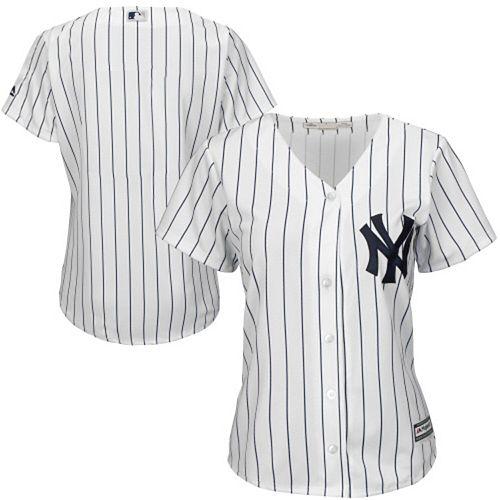 Women's Majestic White New York Yankees Plus Size Cool Base Jersey