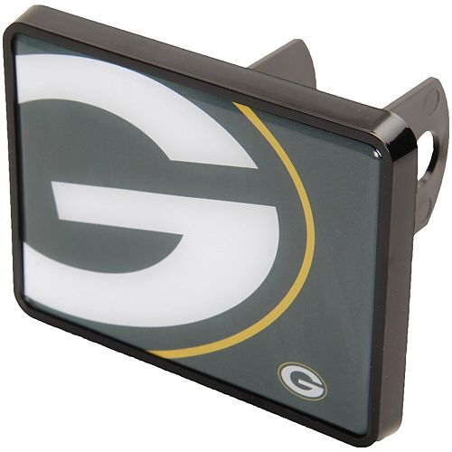 """Green Bay Packers Mega 1.25"""" x 2"""" Universal Plastic Hitch Cover"""