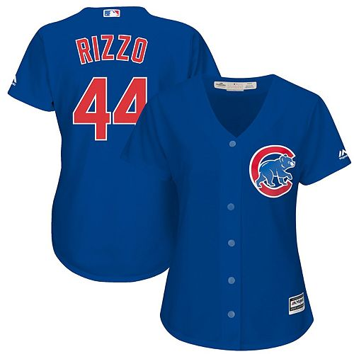 Women's Majestic Anthony Rizzo Royal Chicago Cubs Cool Base Player Jersey
