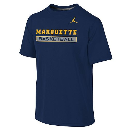 Youth Nike Navy Marquette Golden Eagles Basketball Legend Practice Performance T-Shirt