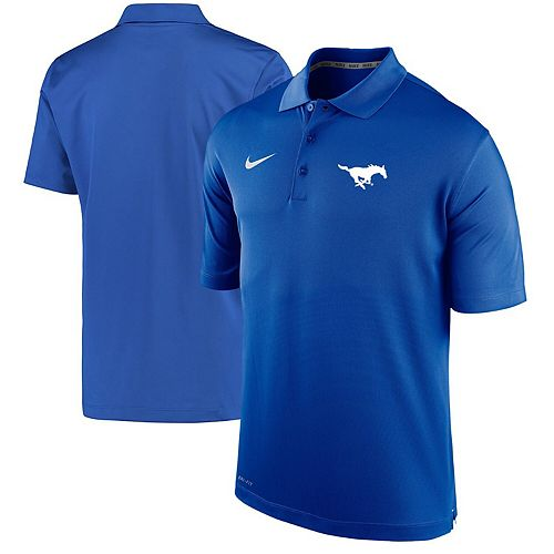 Men's Nike Royal SMU Mustangs Varsity Performance Polo
