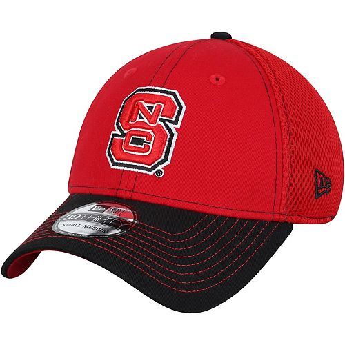 Men's New Era Red/Black NC State Wolfpack Team Front Logo Neo 39THIRTY Flex Hat