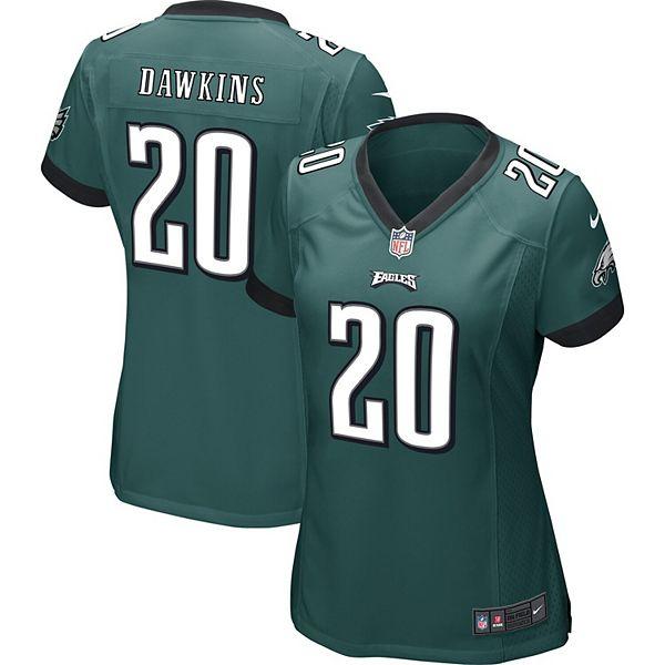 Women's Philadelphia Eagles Brian Dawkins Nike Midnight Green Game Jersey