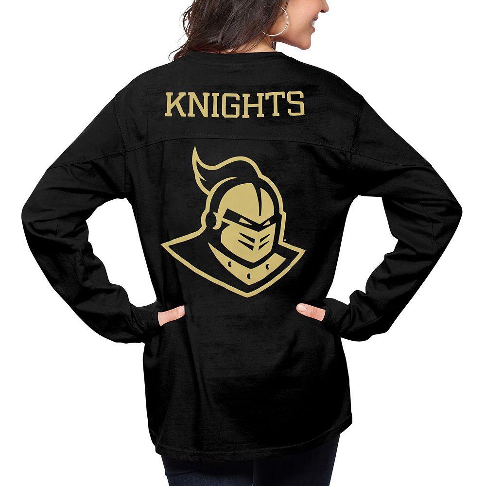 Women's Pressbox Black UCF Knights The Big Shirt Oversized Long Sleeve T-Shirt