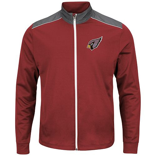 Men's Majestic Cardinal Arizona Cardinals Team Tech Full-Zip Jacket
