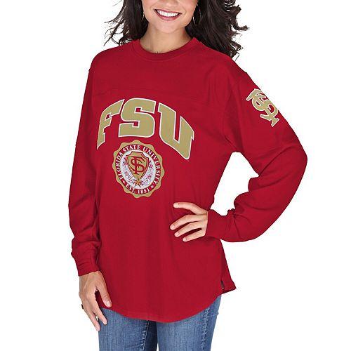 Women's Pressbox Garnet Florida State Seminoles Edith Long Sleeve Oversized Top