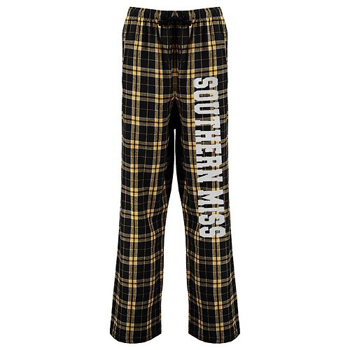 Women's Black Southern Miss Golden Eagles Flannel Pajama Pants