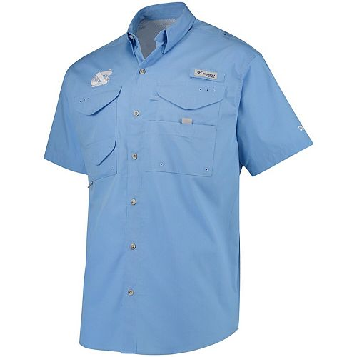 Men's Columbia Carolina Blue North Carolina Tar Heels PFG Bonehead Shirt