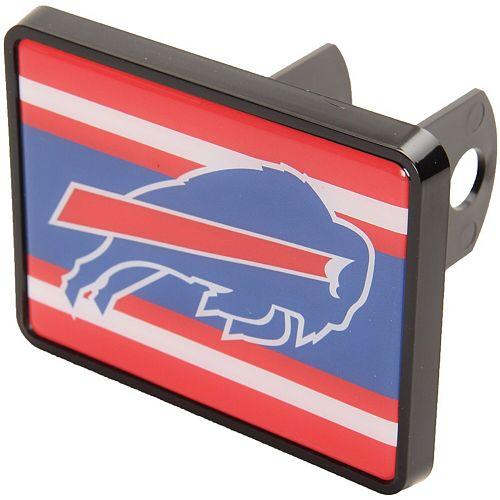 "Buffalo Bills Stripe 1.25"" x 2"" Universal Plastic Hitch Cover"
