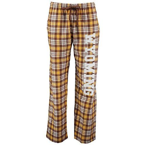 Women's Brown Wyoming Cowboys Flannel Pajama Pants
