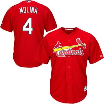 new arrival 58bd7 2298d Youth Yadier Molina Red St. Louis Cardinals Official Cool Base Player Jersey