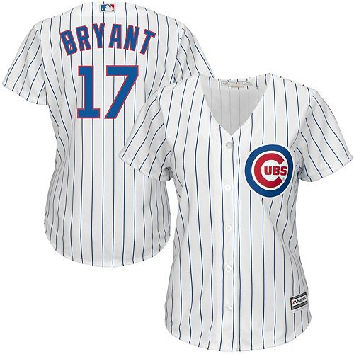 Women's Majestic Kris Bryant Chicago Cubs White Official Cool Base Player Jersey