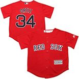 Preschool Majestic David Ortiz Red Boston Red Sox Official Cool Base Player Jersey