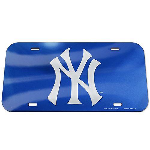 WinCraft New York Yankees Logo Crystal Mirror License Plate