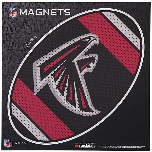 "Atlanta Falcons Jersey 12"" x 12"" Oval Full Color Magnet"