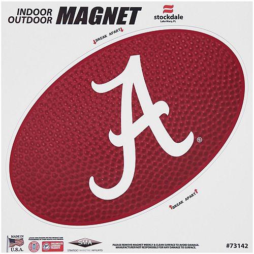 "Alabama Crimson Tide Teamball 12"" x 12"" Oval Full Color Magnet"