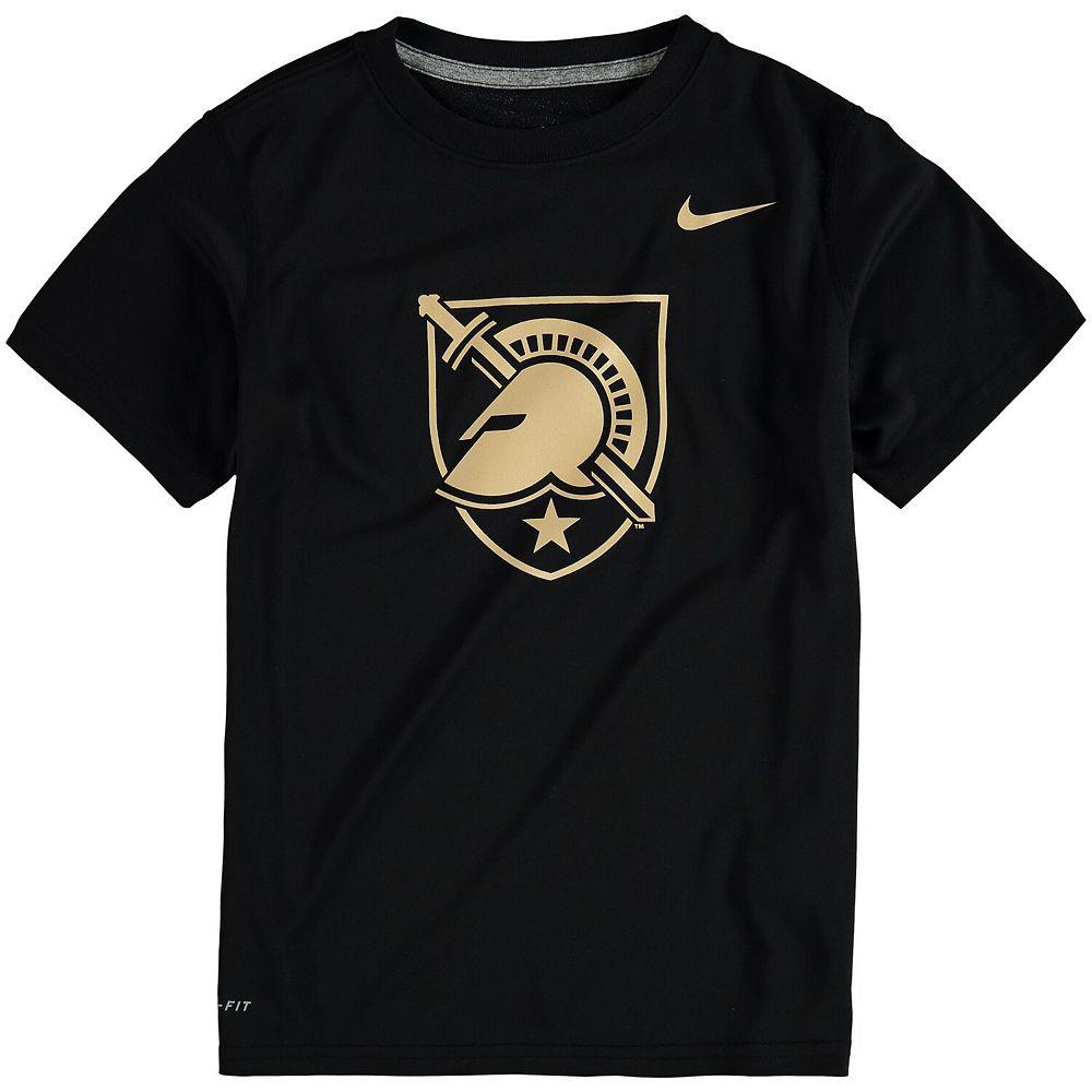 Youth Nike Black Army Black Knights Logo Legend Dri-FIT T-Shirt