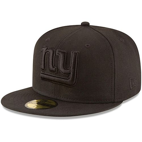 Men's New Era New York Giants Black on Black 59FIFTY Fitted Hat