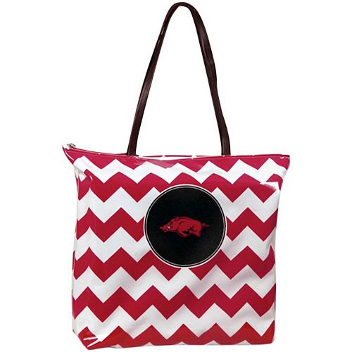Arkansas Razorbacks Chevron Shopper Tote