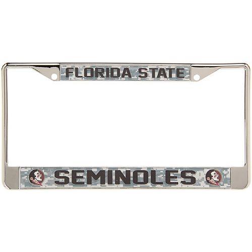 Florida State Seminoles Digital Camo Acrylic Inlay License Plate Frame