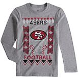 Youth Heathered Gray San Francisco 49ers Blizzard Long Sleeve T-Shirt
