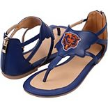Women's Cuce Navy Chicago Bears Gladiator Sandals
