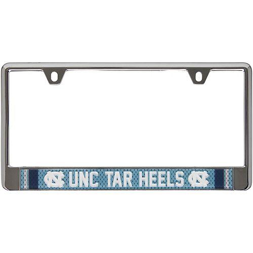 North Carolina Tar Heels Jersey Bottom Only Metal Acrylic Laser-Cut License Plate Frame