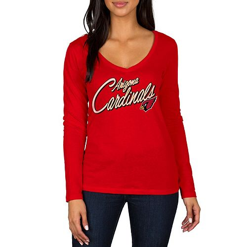 Women's Cardinal Arizona Cardinals Scrimmage 1-Hit V-Neck T-Shirt